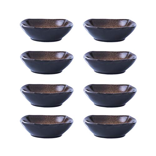 Piatto Spuntino Piatto di salsa di soia in porcellana in stile giapponese - 8-pack Multiuso salsa di salsa di salsa ideale per salsa di pomodoro, soia, barbecue e altre cena del partito ciotole da des