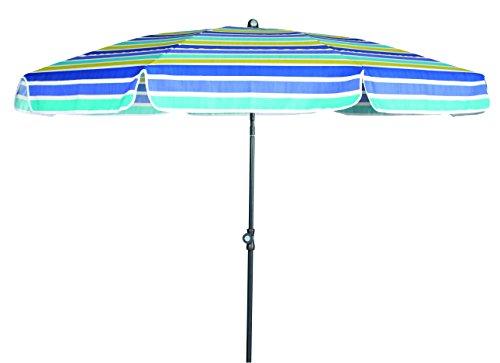 GoodSun Sonnenschirm SL, blau gestreift, 150 cm rund, Gestell Stahl/Kunststoff, Bespannung Polyester, 2.2 kg