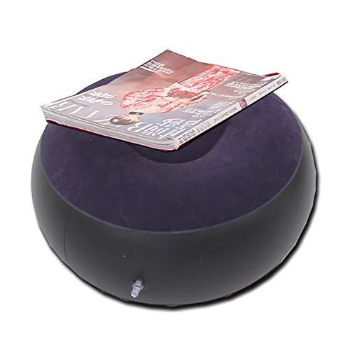 Inflatable Sofa Perezoso sofá Inflable Plegable reclinable al Aire Libre Sofá Cama con Pedal cómodo Capa de la Pila Flocado sofá Silla (Color : Purple)