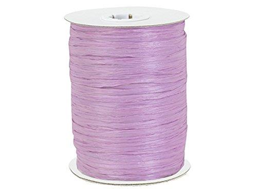 Paper Raffia Ribbon 1/4' - 100 Yards Roll 100% Natural Fibers Choose Color (Lavender)