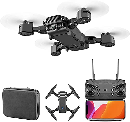 rzoizwko Drone, Drone Quadcopter 4K HD Cámara Dual, Drones Plegables flotantes automáticos Posicionamiento de Flujo óptico Tecnología Anti-Bloqueo de 2,4 GHz Adecuado para Principiantes y Adultos, Co