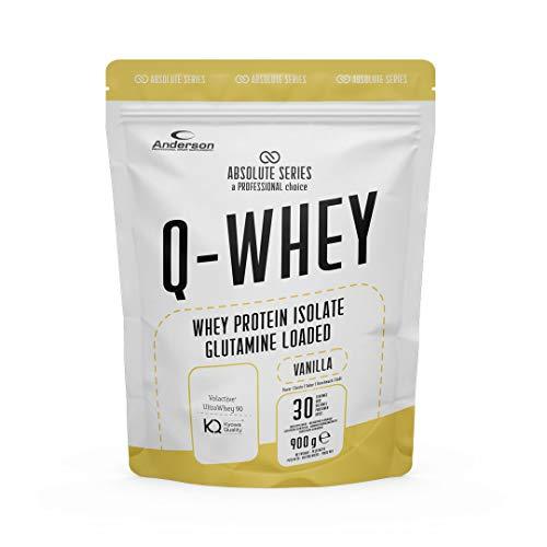 Proteine Whey isolate 90% con Glutammina e Vitamina B- Q-WHEY, 900 g per 30 dosi di Absolute Series. (Vanilla)
