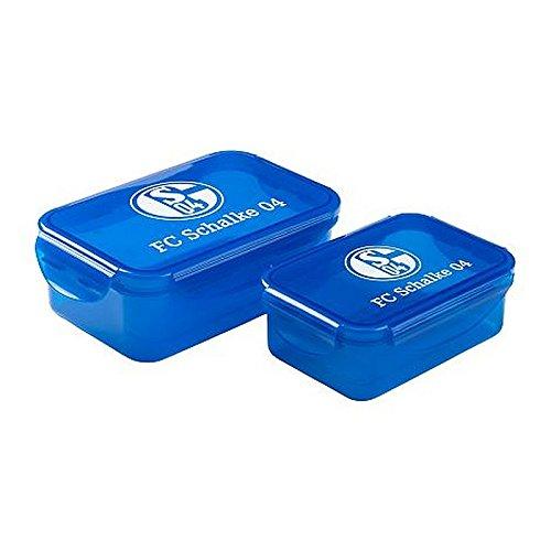 FC Schalke 04 Brotdose 2er Set Lunchbox Signet Logo
