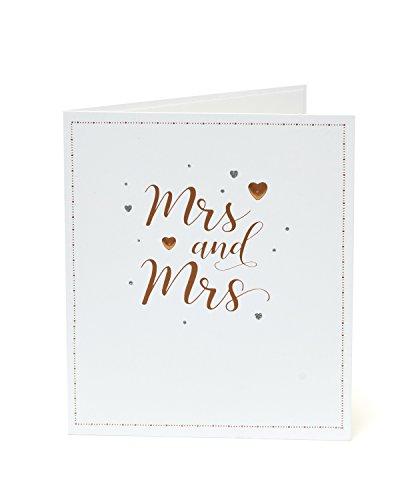 Carlton 555574-0 – 2,5 cm Congratulations van dezelfde seks, vrouw en vrouw, bruiloft kaart
