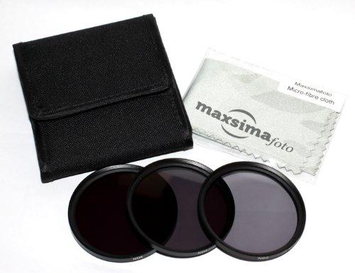 Maxsima–58mm ND2, ND4y ND8filtros de densidad neutra para Canon 18–55mm lente 700d 650d 600d 550d 7d 6d. Ideal para vídeo/filmaking-