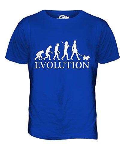 Candymix Malteser Evolution des Menschen Und Hund Herren T Shirt, Größe 3X-Large, Farbe Königsblau