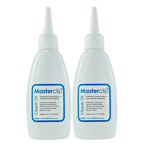 Masterclip 2 x 100ml Clipper Oil for dog clippers horse clipp