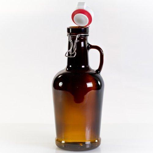 Henkelnestor Biersiphon 2,0 Liter braun mit Glasgriff