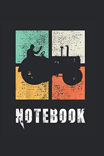 Notebook: Bauer mit Traktor, Bauernhof Notizbuch. Ein Taschenbuch A5 mit 108 karierte Seiten. Ein Motiv für Landwirte, Bauern, Bäuerin, Traktor, Frauen, Männer, Mädchen und Jungen. Cooles Motiv.