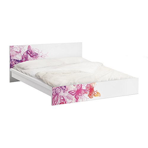 Apalis Möbelfolie für IKEA Malm Bett niedrig 160x200cm Schmetterlingstraum 77x177cm