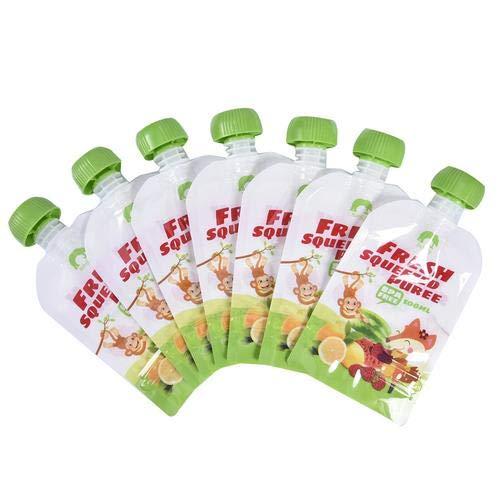 circulor 8 Pcs Bolsitas De Alimento Reutilizable, Bolsas De Almacenamiento De Suplementos Alimenticios Sellados Reutilizables Puré De Frutas Caseras