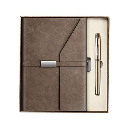 ZANZAN Cuadernos de Notas Mayor clásico Hardcover 5,7 x 8 .2inches, 120 gsm Grueso de Papel for Diario Forrado Home Office Business School Blocs A5 Papel Grueso blocs de Notas (Color : Brown)