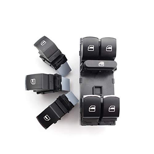 QBV 4 unids/Set botón de Interruptor de Control de Ventana para Volkswagen VW Golf MK5 6 Jetta Passat B6 Tiguan Touran 5ND 959857 5ND 959855 (Color : 4 pcs)