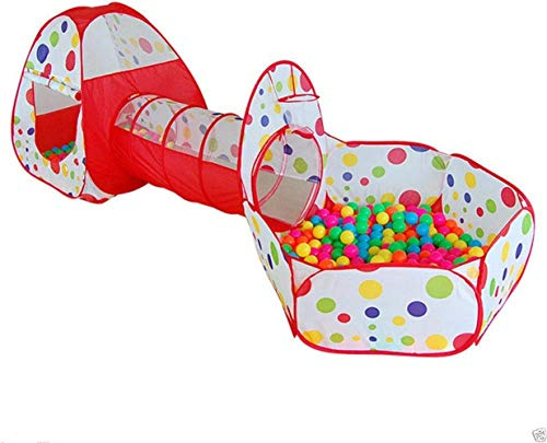 MAGT Ball Pool, 3Pcs / Set Niños Baby Play House Carpa Tunnel Ball Pool Pop Up Kids Tienda De Juguetes Plegable Resistente Al Agua For Interiores Al Aire Libre
