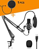 USB Product Image PC Microphone with Shock Mount Pop Filter forPC Microphone for Gaming Streaming Podcast Recording Karaoke Singing Mic Kit