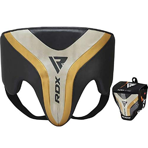RDX Groin Protector for Boxing, Muay Thai, Kickboxing and MMA Fighting, Maya Hide Leather Abdo Gear for Martial Arts, Men Jockstrap Abdominal Guard for Grappling, BJJ, Sparring and Taekwondo