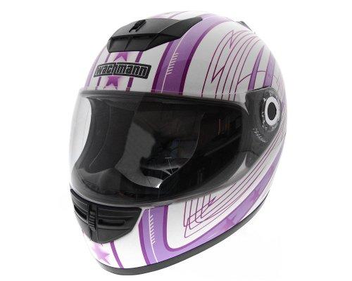WACHMANN WA-20 Eques lila/weiss glänzend Integralhelm, Rollerhelm, Motorradhelm [Größe XS]