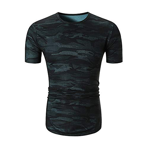 Mens Print T Shirts Summer Camouflage Tops Men's Plain Crew Neck T-Shirt Hipster Hip Hop Short Sleeve T-Shirt Breathable Top with Unique Design Sport Casual Work Tops 2020 2XL