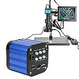 Digitales Mikroskop, 4k HDMI USB elektrische Kamera mit Fernbedienung 100-240V für die Landwirtschaft und Biologie(EU Plug)