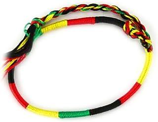 vert jaune rouge noir Bijoux Fantaisie bracelet brésilien tressé rasta
