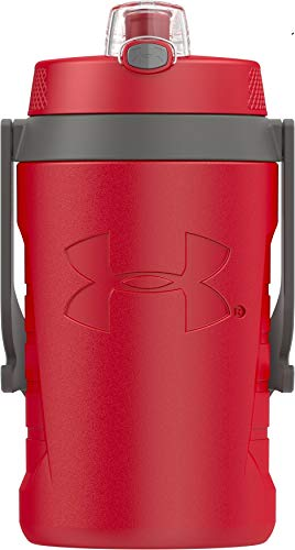 Under Armour Sideline 64 Ounce Water Jug, Red