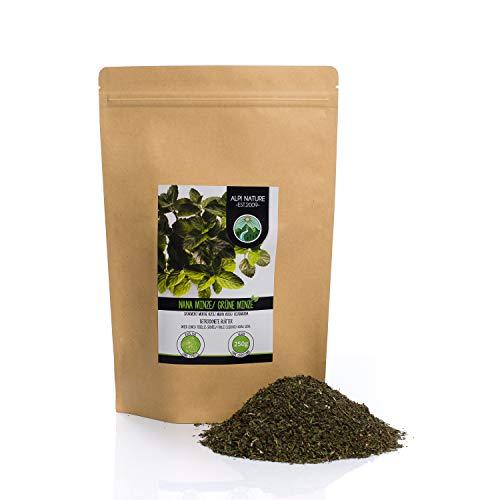 Hierbabuena (250g), corte menta verde, suavemente secado, 100% puro y natural para la preparación de té, menta marroquí, té de hierbas