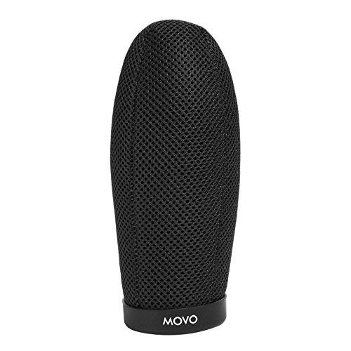 Movo WST160 Professionalle Pämie Qualität Ballistischem Nylon Frontscheibe mit Akustikschaum Technologie für Richtrohre bis zu 14cm lang (passt Fits Røde NTG-1, NTG-2, VideoMic)