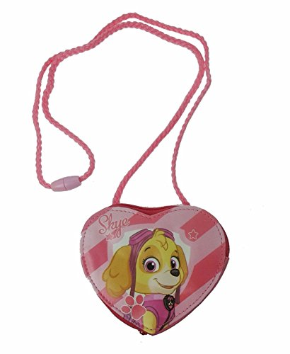 Paw Patrol hart portemonnee muntzak, 18 cm, roze