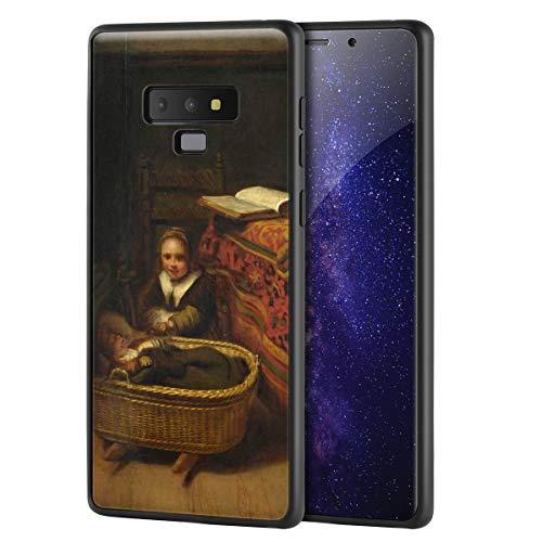 Berkin Arts Nicolaes Maes for Samsung Galaxy Note 9Art Cellphone Case/GicleeUVReproductionPrintonMobilePhoneCover(A Little Girl Rocking A Cradle)