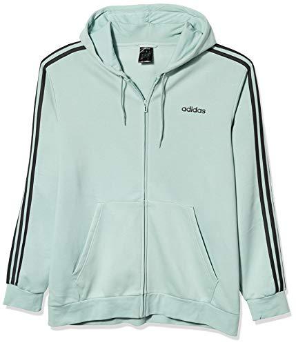 adidas mens Essentials 3-Stripes Regular Fit Training Fleece Track Top Sweatshirt, Black/White, Medium