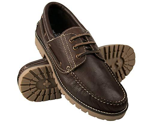 Nautisch leer Zerimar | Casual Herenschoenen Nautische lederen man | Nautische schoenen Man | Nautische man met veters | Nautische lederen schoenen man