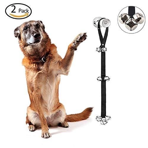 GDDYQ Hond Deurbel, Verstelbare grootte Hond Toilet Training Deurbel Touw Plezier Interactieve Onderwijzen Training Bell, 2 stuks