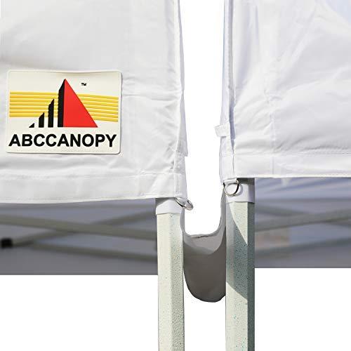 ABCCANOPY Baldachin Zubehör, 3 m, Regenrinne / leichte Dachrinne für 3 x 3 m, Überdachung zum Aufklappen, Grau