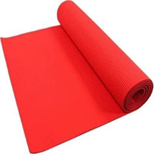 Thick 10Mm Non-Slip Yoga Mat Exercise Fitness Pilates Meditation Red Mattress