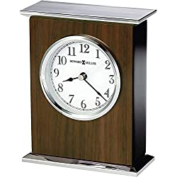 Howard Miller Verona Table Clock 645-807 – High-Gloss Walnut Home Decor with Quartz Movement