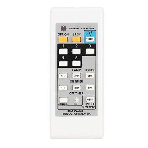 Dpofirs Mando a Distancia Universal de Ventilador para KDK ELMARK, Control Remoto de Repuesto para Ventilador Electrónico, Reeemplazo de Controlador Resisitente para Ventiladores, Color Blanco