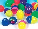 Baker Ross Uova di Plastica Colorate da Riempire di Dolcetti per la Caccia alle Uova di Pasqua (confezione da 12)
