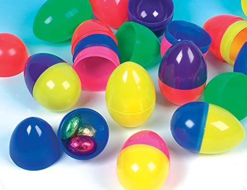 Baker Ross Bunte Eier aus Plastik für Geschenke & Süßigkeiten für Kinder zum Basteln zu Ostern (12 Stück)