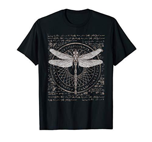 Altes Wissenschafts-Libellen-Studien-T-Shirt Alchimie-Symbol