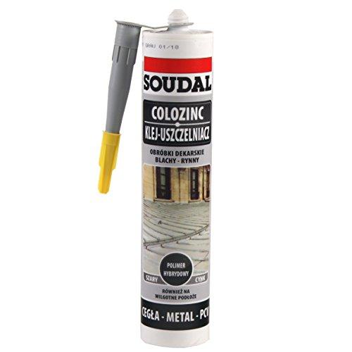 Soudal Colozinc Blechkleber Blechpfannenkleber Dachdecker Kleber 290 ml (Grau)