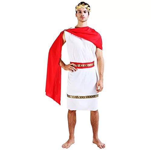 thematys Julius Caesar Römer Toga Kostüm-Set für Herren - perfekt für Cosplay, Karneval & Halloween - Einheitsgröße 160-180cm