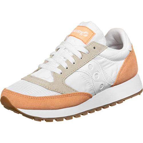 Saucony Jazz Original Vintage White/Cantaloupe, Zapatillas de Atletismo para Mujer, Blanc/Orange