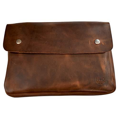 Hide & Drink, Vintage Leather Folder Document Holder, File Case, Document Portfolio, Office & Work...