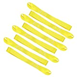 JCHL Soft Loop Tie Down Straps 1800Lbs Load Capacity, Tie Down Loops for Securing ATV UTV Motorcycles Scooters Dirt Bikes Lawn Garden Equipment yellow (8 Pack)