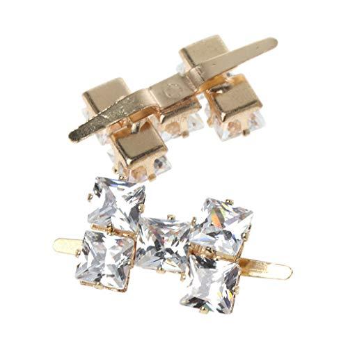 SimpleLife 2 Stück Schuhdekoration Multifunktionale DIY Hochzeit Braut Schuhclips Frauen Hut Kleid Tasche Clips Schnalle Zubehör