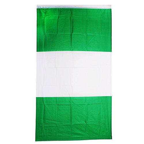 Homyl Drapeaux Banderole Pays Décoration pour Bar Fête Festival Clubs de Sport - Nigéria