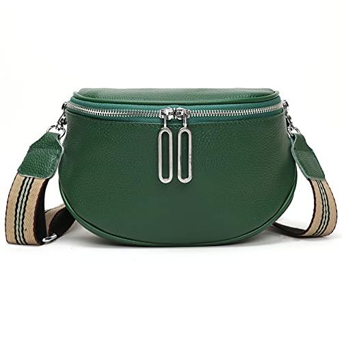 ATGBIEM® Fashion Trend umhängetasche Damen Schultergurt Handytasche zum umhängen lederhandtasche klein, Brusttasche Satteltasche Grün