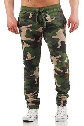 Happy Clothing Herren Camouflage Jogginghose Army Woodland Sweathose, Größe:M, Farbe:Camouflage