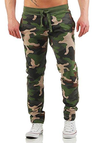 Happy Clothing Herren Camouflage Jogginghose Army Woodland Sweathose, Größe:XXL, Farbe:Camouflage