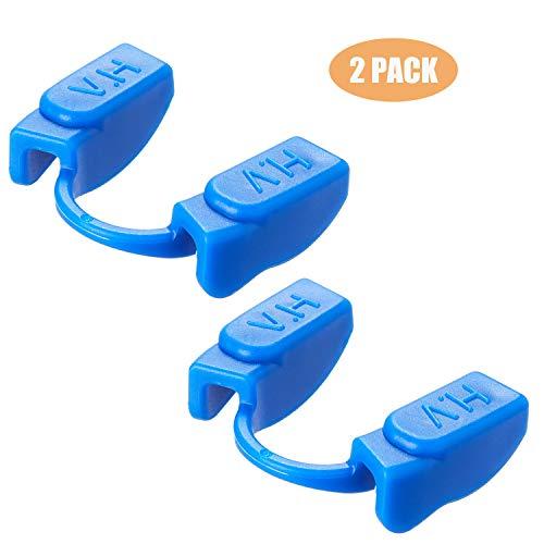 Powerlifting Mundschutz (2 Stück) für Sport und Fitness Gewichtheben (Bodybuilding, Fitness, Wettkampf) – Unterkiefer, kontaktfrei, 2er-Pack blau